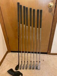 Cleveland UHX Iron Set 5-DW Steel / Stiff Shaft and Launcher Halo 4 Hybrid