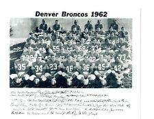 1962 DENVER BRONCOS TEAM 8X10  PHOTO AFL COLORADO USA NFL FOOTBALL