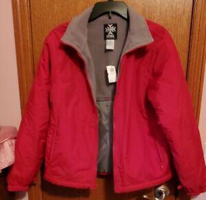 Maurice Powder reversible Girls Jacket, Ski Snowboarding Jacket red grey,XL NWT