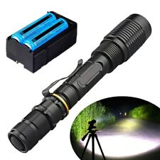990000Lumen T6 Tactical Zoomable Rechargeable LED Flashlight Torch Free shipping