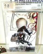 PGX SS 9.8 Amazing Spiderman 1 VIRGIN Variant SIGNED + SKETCH Art Crain Carnage