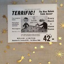 g1k ephemera vintage advert relum limited table soccer