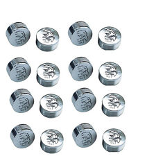"CY-CHROME EAGLE DESIGN METAL BOLT COVERS; 1/4"" Button Head (pack of 16)"
