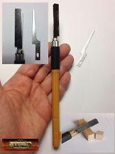 M01240 MOREZMORE 2 Mini Micro Razor Model Hobby Saw Blades + Handle BJD Tool T20