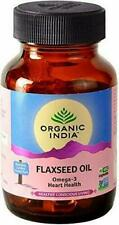 Organic India Flaxseed Oil Capsules 60 Cap Bottle Rich Source Omega 3 Ayurvedic