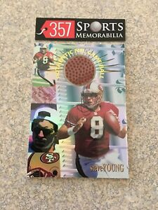 1996 COLLECTORS EDGE ADVANTAGE STEVE YOUNG GAME USED NFL BALL HOF 49ERS SP