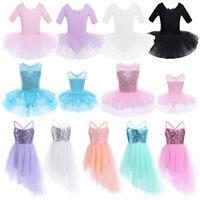 Sequin Ballet Dress Leotard Gymnastics Tutu Skirt Costume Dancewear for Girls