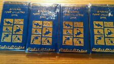 Four Blue Elongated Penny Souvenir Books Album w/ 3 FREE PRESSED PENNIES!