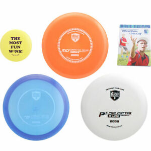 Discmania Complete Disc Golf Variety Set - Driver, Mid-Range & Putter + Extras