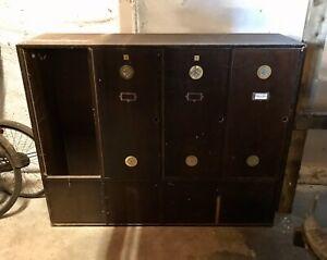 Antique Mahogany locker vintage industrial storage cabinet Cupboard Wardrobe