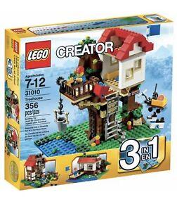 Lego Creator 31010 Treehouse 3in1 Lakeside Hut Barn Instructions No Box Age 7-12