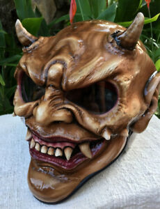 Custom Demon Monster DOT Helmet Devil Satan 3D Hellboy Horn Hell damon tormentor