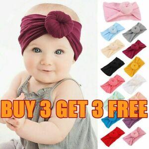 Soft Baby Girls Kids Toddler Bow Hairband Headband Turban Big Knot Head Wrap