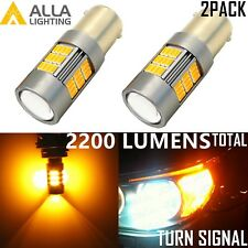 Alla Lighting 2x 1156 54-LED Turn Signal Blinker Light Bulb Lamps, Amber Yellow
