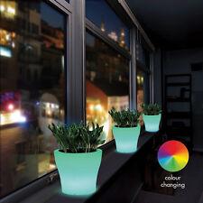 Colore LED Cambiare DELLE PIANTE DA GIARDINO INTERNI ESTERNI vaso luminoso incandescente luci ENCHANTE'