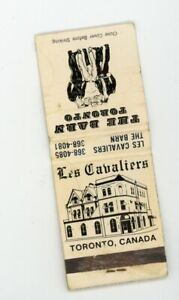 Vintage gay bar night club  Toronto matchbook matches gay interest