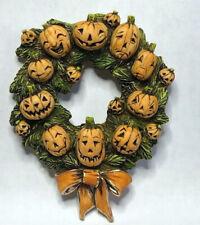 Harmony Kingdom Art Neil Eyre Eyredesigns Halloween Pumpkin Patch Wreath Magnet