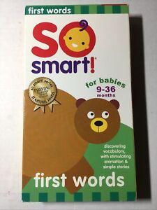So Smart! Baby's First Words 9-36 month VHS 2001 RARE VINTAGE Parenting Magazine
