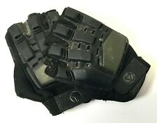 Tactical Half Finger Hard Back Paintball /Airsoft Gloves Olive/Black Small/Med P