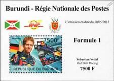 2012 SEBASTIAN VETTEL Red Bull Racing Formula 1 GP Race/Racing Car Stamp Sheet 2