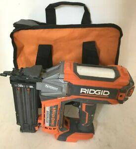 RIDGID R09890 18v 18-GAUGE CORDLESS BRUSHLESS HYPERDRIVE BRAD NAILER, GD