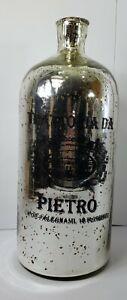 Glass Bottle Vase Mirror Mercury Glass Trattoria Da Pietro Home Kitchen Decor