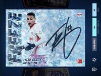 Topps Kick TYLER ADAMS Auto Signature Freeze Super Rare /799 *DIGITAL CARD*