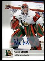 2019-20 UD CHL Autographs Parallel Auto #20 Alexis Gravel - Halifax Mooseheads