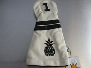 Sunfish Golf Driver Headcover LEATHER Pineapple White Black N067