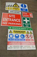 Construction site safety sign starter pack - for sml/ med sites tough robust 5mm