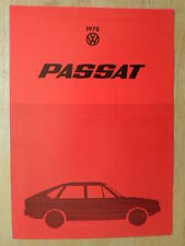 VOLKSWAGEN PASSAT 1978 UK Mkt Sales Brochure - VW