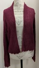 NWT Eileen Fisher Washed Mohair Cropped Cardigan Dark Pink Size Large