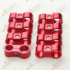 8PCS AN -4 4AN 11.9mm to 6AN AN-6 14.6mm AN6 Stepped Billet Dual Hose Separator