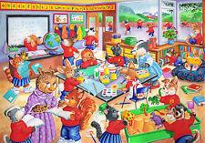 La House of Puzzles kidzjigz-Puzzle 80 PEZZI-GIORNI DI SCUOLA BAMBINI