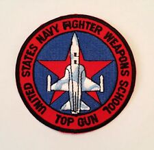 TOPGUN FIGHTER IRON ON PATCH  / FREE IRON ON WHEN BUY CAP IN STORE AT SAME TIME