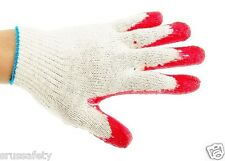Bulk 2400 Pairs Red Latex Rubber Palm Glove 10 Case Work Gloves Korred240