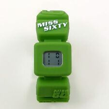 New Miss Sixty Holiday Digital Watch for Girl, Silicon Rubber Bracelet, Green