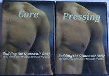 2 Building the Gymnastic Body Science of strength training DVD lot Core Pressing