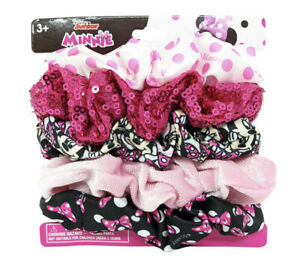 Disney Minnie Mouse Girls Scrunchies 5-Pieces