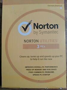 Norton Utilities for Windows- Desktop, Laptop IMPROVE PC PERFORMANCE- 3 PCs