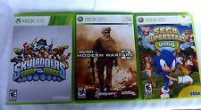 XBOX 360 Games Modern Warfare, Skylanders, Sega 3 games