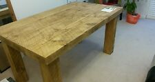 BRAND NEW SOLID WOOD RUSTIC CHUNKY WOODEN PLANK DINING TABLE MADE TO MEASURE