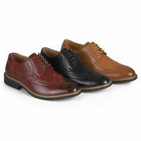 Daxx Mens Lace up Faux Leather Oxford Derby Dress Shoes New