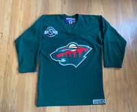 Minnesota Wild Authentic CCM Center Ice Practice Jersey Fits Large