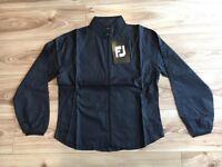 Ladies Footjoy Lightweight Un-Lined Wind Jacket Black Grey Trim Med New Full Zip