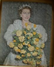 VICTORY WOODEN JIGSAW PUZZLE - 'H.M. QUEEN ELIZABETH II'  -  WITH ORIGINAL BOX