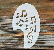Musical Notes Left Side Face Painting Stencil approx 12cm x 8cm  Washable