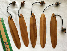 FIVE Plain Wood Surfboard Book Markers Bulky Sell Hawaiian Hawaii Aloha