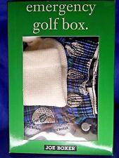 Joe Boxer Emergency Golf Box L Large 2 Balls 4 Sturdy Tees Knit Putter Cover Nib