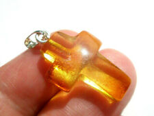 REAL BALTIC AMBER  PENDANT ,, CROSS ''